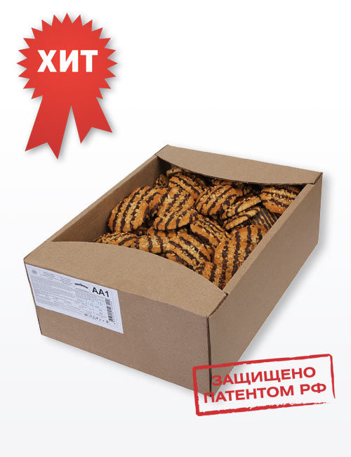 """Печенье сахарное """"Русский десерт"""" с арахисом, декорированное кондитерской глазурью 3,2 кг, АА1"""