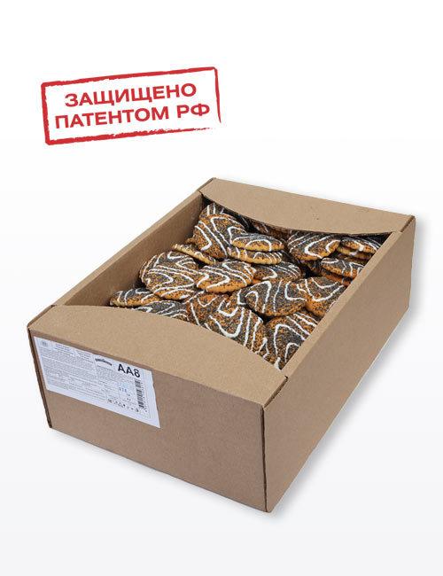 """Печенье сахарное """"Русский десерт"""" с маком, декорированное белой кондитерской глазурью 3,0 кг, АА8"""
