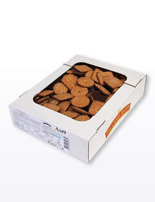 """Печенье """"Сахарное с посыпкой сахаром, декорированное глазурью"""" 700 гр., Ам.9"""