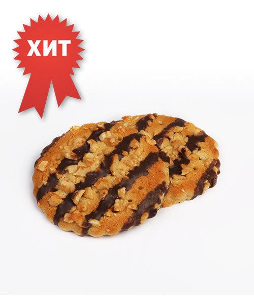 """Печенье сахарное """"Русский десерт"""" с арахисом, декорированное кондитерской глазурью"""