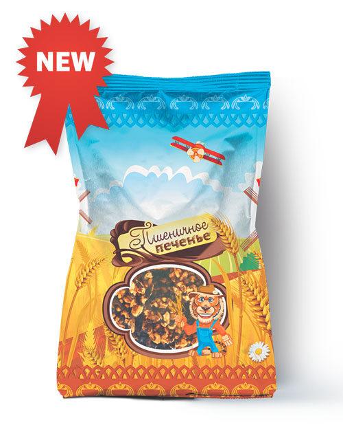 Печенье пшеничное цельнозерновое декорированное кондитерской глазурью