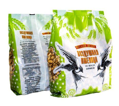 Воздушные зёрна пшеницы со вкусом карамели