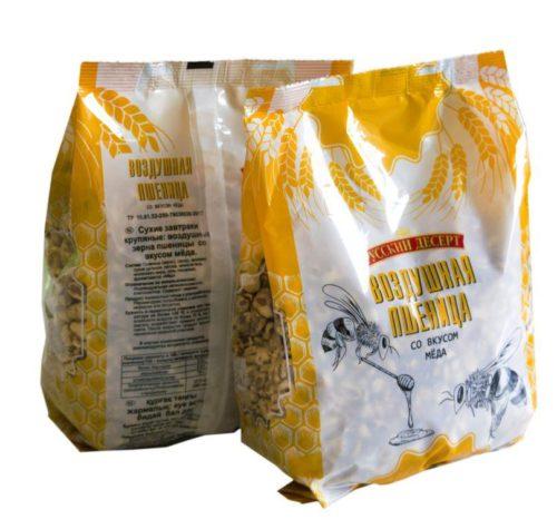 Воздушные зёрна пшеницы со вкусом мёда